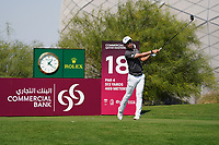 Jinho Choi (KOR) on the 18th during Round 1 of the Commercial Bank Qatar Masters 2020 at the Education City Golf Club, Doha, Qatar . 05/03/2020<br /> Picture: Golffile | Thos Caffrey<br /> <br /> <br /> All photo usage must carry mandatory copyright credit (© Golffile | Thos Caffrey)