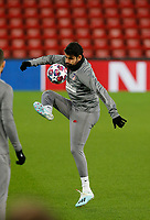 10th March 2020; Anfield, Liverpool, Merseyside, England; UEFA Champions League, Liverpool versus Atletico Madrid, Atletico training; Diego Costa of Atletico Madrid during today's open training session at Anfield ahead of tomorrow's Champions League match against Liverpool