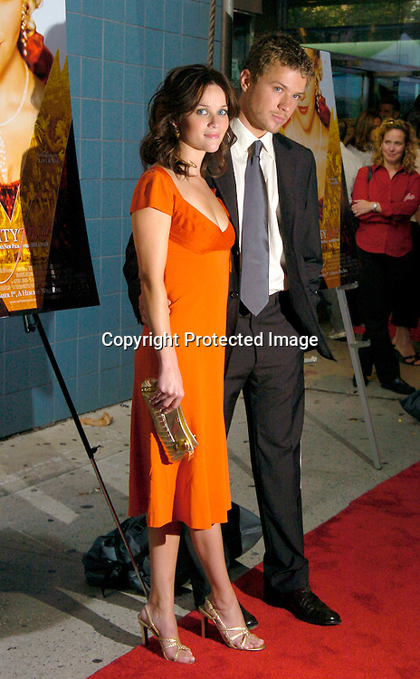 """Reese Witherspoon and husband Ryan Phillippe ..at The New York Screening of """"Vanity Fair"""" starring ..Reese Witherspoon, Romola Garai and James Purefoy ..at the Clearview Chelsea West on August 16, 2004...Photo by Robin Platzer, Twin Images"""