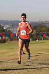 November 2, 2013; Malibu, CA, USA; Pepperdine runner Jesse Aston (43) during the WCC Cross Country Championship at Alumni Park.