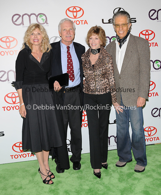 Guest,Ted Turner,Jane Fonda and Richard Perry at The 2010 Environmental Media Association Awards held at WB Studios in Burbank, California on October 16,2010                                                                   Copyright 2010  © Hollywood Press Agency