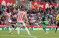 Swansea City's Leroy Fer shoots off target during the Barclays Premier League match between Stoke City and Swansea City played at Britannia Stadium, Stoke on April 2nd 2016