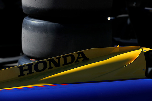 2018 Verizon IndyCar Series Phoenix testing<br /> Phoenix Raceway, Avondale, Arizona, USA<br /> Thursday 8 February 2018<br /> Marco Andretti, Herta - Andretti Autosport Honda bodywork detail<br /> World Copyright: Phillip Abbott/LAT Images<br /> <br /> ref: Digital Image abbott_phxTest2018_0811