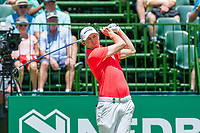 Matthew Fitzpatrick (ENG) on the 1st tee on the 1st tee during the first round at the Nedbank Golf Challenge hosted by Gary Player,  Gary Player country Club, Sun City, Rustenburg, South Africa. 14/11/2019 <br /> Picture: Golffile | Tyrone Winfield<br /> <br /> <br /> All photo usage must carry mandatory copyright credit (© Golffile | Tyrone Winfield)