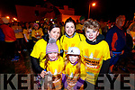 Pictured at the Darkness Into Light walk, Tralee, on Saturday last, were l-r: Ciara Hobbert, Aoife Casey, Mary Carey, Lucy Carey and Simon Carey, all from Tralee.