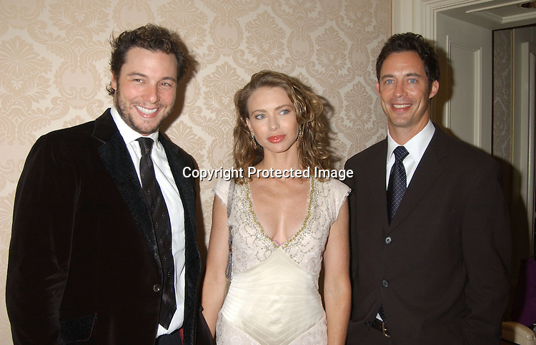 """..Rocco DiSpirito , girlfriend Yvonne Scio and Tom Cavanaugh of """" ED""""..at the American Museum of the Moving Image Gala honoring Bob Wright and Jim Robbins on October 8, 2003..at the St Regis Hotel in New York City. ..Photo by Robin Platzer, Twin Images"""