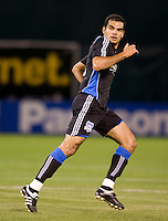 18 April 2009: Pablo Campos of the Earthquakes in action during the game against the Galaxy at Oakland-Alameda County Coliseum in Oakland, California.   Earthquakes and Galaxy are tied 1-1.