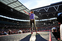 LONDON, ENGLAND - JUNE 16: Chris Martin of 'Coldplay' performing at Wembley Stadium on June 16, 2016 in London, England.<br /> CAP/MAR<br /> &copy;MAR/Capital Pictures /MediaPunch ***NORTH AND SOUTH AMERICAS ONLY***