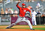 28 February 2011: Washington Nationals' pitcher Craig Stammen on the mound in a Spring Training game against the New York Mets at Digital Domain Park in Port St. Lucie, Florida. The Nationals defeated the Mets 9-3 in Grapefruit League action. Mandatory Credit: Ed Wolfstein Photo