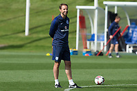 England manager Gareth Southgate during the part open training session of the  England national football squad at St George's Park, Burton-Upon-Trent, England on 31 August 2017. Photo by James Williamson.