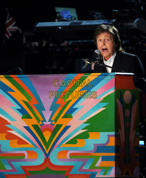 LOS ANGELES, CA - JANUARY 26 : Paul McCartney performs onstage at The 56th Annual GRAMMY Awards at Staples Center on January 26, 2014 in Los Angeles, California. <br /> CAP/MPI/PG<br /> &copy;PGFMicelotta/MediaPunch/Capital Pictures