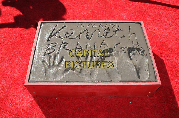 26 October  2017 - Hollywood, California - Atmosphere. Kenneth Branagh Handprint-Footprint in Cement Ceremony held at TCL Chinese Theatre IMAX in Hollywood.  <br /> CAP/ADM/BT<br /> &copy;BT/ADM/Capital Pictures