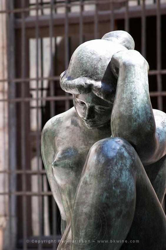 Sculpture by Aristide Maillol. Hotel de Ville. Perpignan, Roussillon, France.
