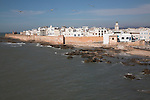 Town walls, ramparts, medina and Atlantic ocean, Essaouira, Morocco