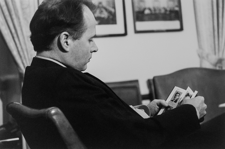 Rep. David Dreier, R-Calif., during Rules Committee Hearing, in February 1994. (Photo by Maureen Keating/CQ Roll Call via Getty Images)