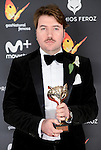 Albert Serra win the award at Feroz Awards 2017 in Madrid, Spain. January 23, 2017. (ALTERPHOTOS/BorjaB.Hojas)
