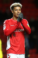 Lyle Taylor of Charlton Athletic applauds the home fans at the end of the match during Charlton Athletic vs Burton Albion, Sky Bet EFL League 1 Football at The Valley on 12th March 2019