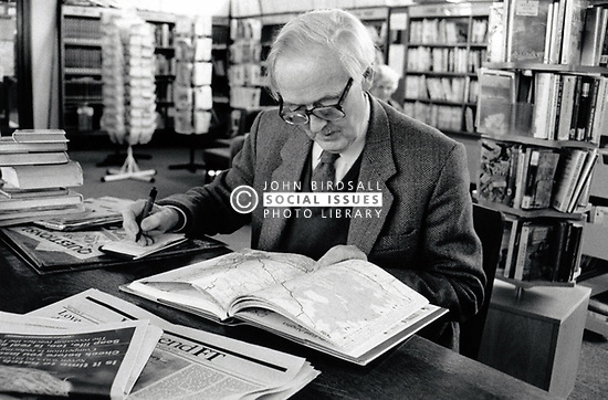 Man in library, Mansfield UK 1991 UK