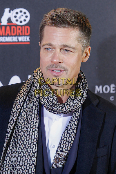 MADRID, SPAIN-NOVEMBER 22: Brad Pitt at the Allied premiere at Callao Theater in Madrid, Spain. November 22, 2016.  ***NO SPAIN***<br /> CAP/MPI/RJO<br /> &copy;RJO/MPI/Capital Pictures