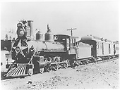 Engine #166 with passenger train.<br /> D&amp;RG