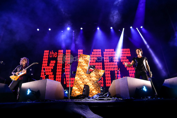 LAS VEGAS, NV - September 27: ***HOUSE COVERAGE*** The Killers surprise set during Brandon Flowers performance at Life Is Beautiful Festival in Las Vegas, NV on September 27, 2015. Credit: Erik Kabik Photography/ MediaPunch