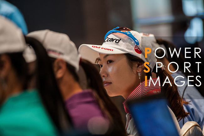 Players attends the Press conference ahead of the Hyundai China Ladies Open 2014 on December 10 2014, in Shenzhen, China. Photo by Xaume Olleros / Power Sport Images