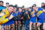 James Barry, David Behan, Sean O'Connell, Timmy Dillon, Robert Barry, Darragh Behan and Bill Keane Celebrate after winning the North Kerry Championship for the first time in their history.