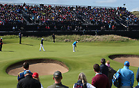 Tommy Fleetwood (ENG) putting on 13 during Round One of the 148th Open Championship, Royal Portrush Golf Club, Portrush, Antrim, Northern Ireland. 18/07/2019. Picture David Lloyd / Golffile.ie<br /> <br /> All photo usage must carry mandatory copyright credit (© Golffile | David Lloyd)
