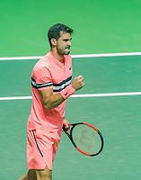 Rotterdam, The Netherlands, 17 Februari, 2018, ABNAMRO World Tennis Tournament, Ahoy, Tennis,  Grigor Dimitrov (BUL)<br /> <br /> Photo: www.tennisimages.com