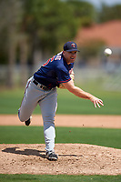Minnesota Twins Brian Gilbert (25) during a minor league Spring Training game against the Baltimore Orioles on March 16, 2016 at CenturyLink Sports Complex in Fort Myers, Florida.  (Mike Janes/Four Seam Images)