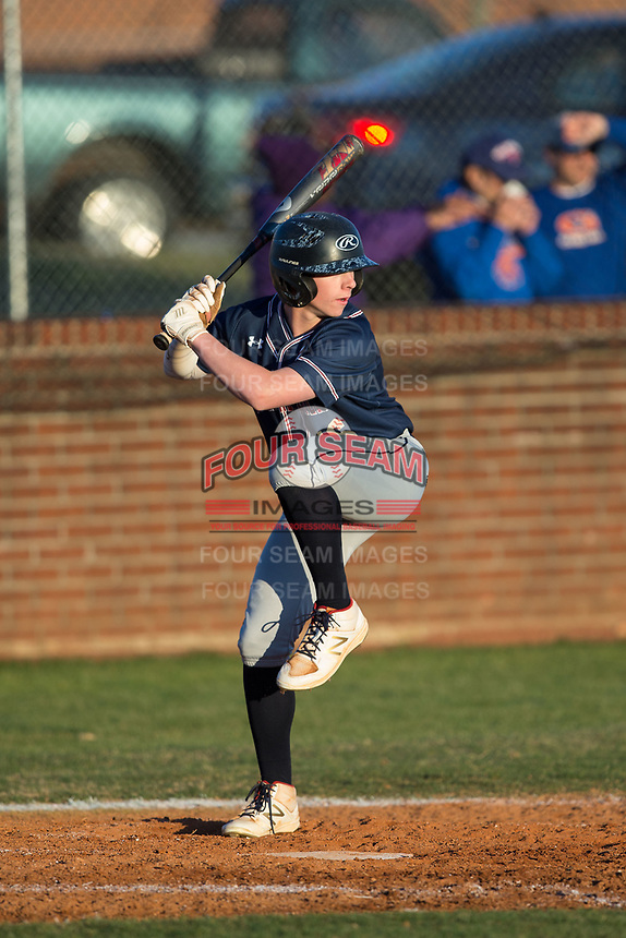 at Dale Ijames Stadium on March 22, 2017 in Kernersville, North Carolina.  The Bobcats defeated the Mavericks 12-2 in 5 innings.  (Brian Westerholt/Four Seam Images)