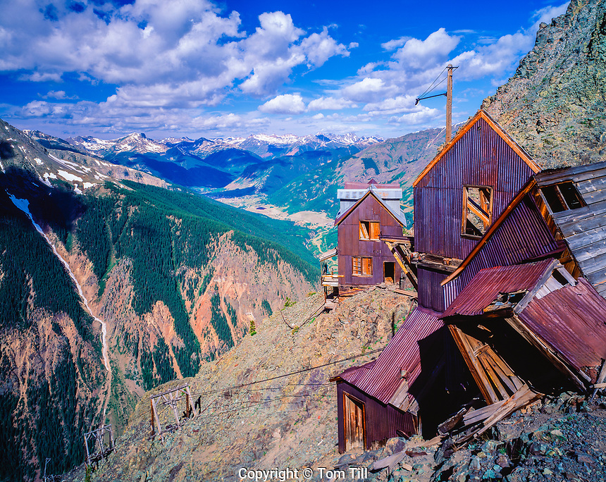 Ghost town high in San Juan Mountains, Colorado, Rocky Mountains
