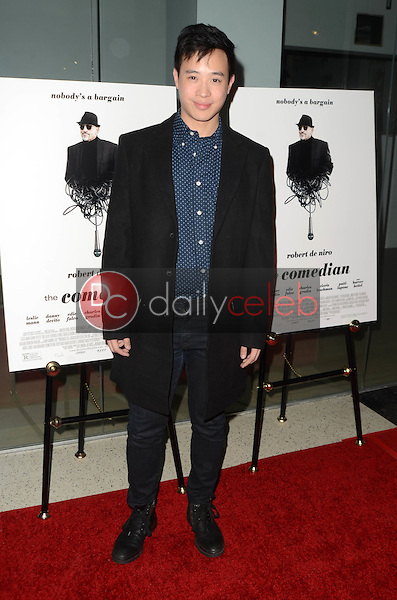 """Hayden Szeto<br /> at """"The Comedian"""" Los Angeles Premiere, Pacific Design Center, West Hollywood, CA 01-27-17<br /> David Edwards/DailyCeleb.com 818-249-4998"""