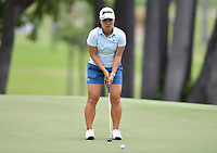 SINGAPORE - FEBRUARY 01: Nasa Hataoka of Japan on the 11th green during the second round of the HSBC Women's World Championship 2019 at Sentosa Golf Club - Tanjong Course, Singapore on March 01, 2019.<br /> .<br /> .<br /> .<br /> (Photo by: Naratip Golf Srisupab/SEALs Sports Images)<br /> .<br /> Any image use must include a mandatory credit line adjacent to the content which should read: Naratip Golf Srisupab/SEALs Sports Images