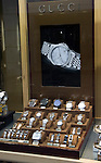 Gucci watches shop window display