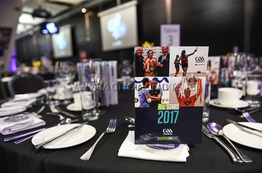 03/02/2018; GAA Handball All-Stars Awards 2018; Croke Park, Dublin;<br /> General view of the a program.<br /> Photo Credit: actionshots.ie/Tommy Grealy