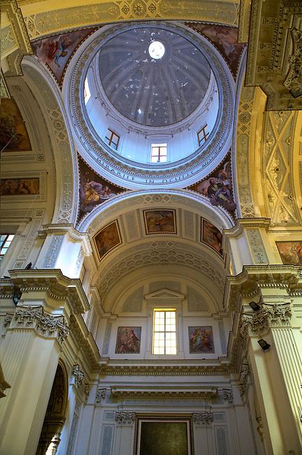 Interior of  the San Lorenzo cathedral, Trapani, Sicily