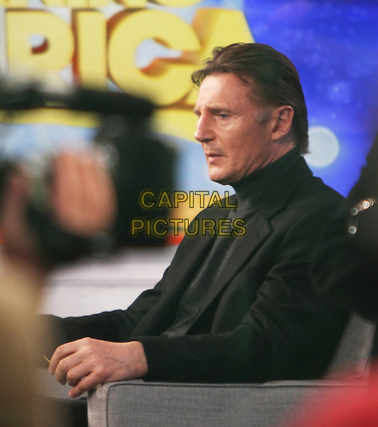 Feb.27, 2014: Liam Neeson at Good Morning America to talk about his new movie 'Non-Stop' in New York, NY., USA.<br /> CAP/MPI/RW<br /> &copy;RW/ MediaPunch/Capital Pictures