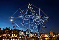 Nederland Amsterdam 2015 14 01. Amsterdam Light Festival. Uniting Lightstar