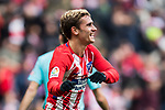 Antoine Griezmann of Atletico de Madrid celebrates during the La Liga 2017-18 match between Atletico de Madrid and Girona FC at Wanda Metropolitano on 20 January 2018 in Madrid, Spain. Photo by Diego Gonzalez / Power Sport Images