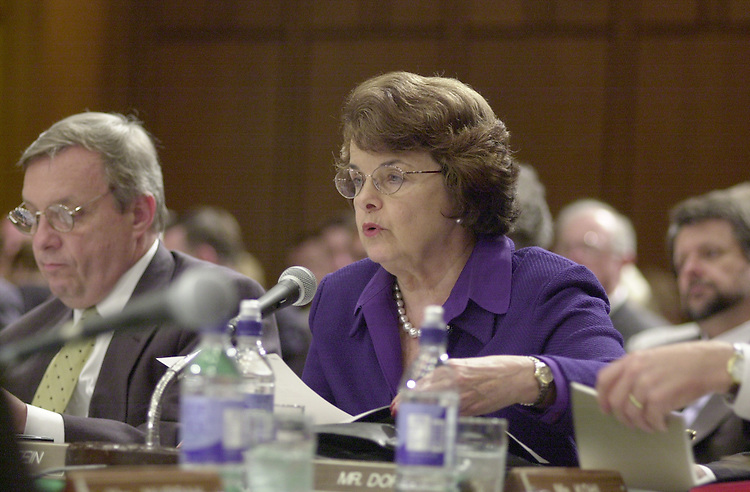 Feinstein D.1(DG) 051800 -- Dianne Feinstein, D-CA., during the Senate Appropriations Committee markup.