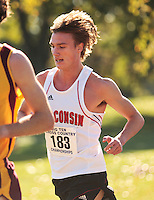 The Big Ten Men's Cross Country Championships, 10,28,2007. University Of Wisconsin. Jack Bolas (University of Wisconsin Freshman) competing during the Men's 2007 Big Ten Cross Country Championships held at The Ohio State University on October 28th, 2007.