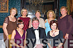 HUNT: The Hunt Master Michael O'Sullivan surrounded with guest at the North Kerry Harriers Hunt Ball in Ballyseedy Castle Hotel, Tralee on Friday night. Front l-r: Deirdre Trant, Mike O'Sullivan and Fidelma Trant (Listowel). Back l-r: Ann and Helen O'Neill (Ballylongford),Mary Flavin (Ballydonoghue),Mary Stack (Moyvane) and Kay Sayers (Listowel).   Copyright Kerry's Eye 2008