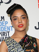 WEST HOLLYWOOD, CA - NOVEMBER 21: Tessa Thompson at the Film Independent Spirit Awards Press Conference at The Jeremy Hotel in West Hollywood, California on November 21, 2017. Credit: Faye Sadou/MediaPunch