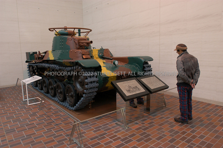 October 10, 2002, Tokyo, Japan: Exhibit of a Japanese WW2 era tank at the new museum of Japanese modern military history at the controversial Yasukuni Shrine opened in July 2002 after a 4 billion yen renovation. Critics argue the museum whitewashes Japan's imperial history especially the periods dealing with Japan's invasion of China and colonial rule of Korea...All photographs ©2003 Stuart Isett.All rights reserved.This image may not be reproduced without expressed written permission from Stuart Isett.