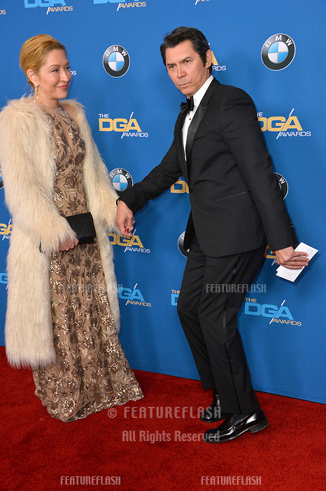 Lou Diamond Phillips &amp; wife at the 70th Annual Directors Guild Awards at the Beverly Hilton Hotel, Beverly Hills, USA 03 Feb. 2018<br /> Picture: Paul Smith/Featureflash/SilverHub 0208 004 5359 sales@silverhubmedia.com