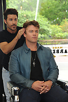www.acepixs.com<br /> May 11, 2017  New York City<br /> <br /> Luke Hemsworth and Celebrity Groomer, Benjamin Thigpen use Old Spice Hair stylers at Made Man Barber Shop on May 11, 2017 in New York City.<br /> <br /> Credit: Kristin Callahan/ACE Pictures<br /> <br /> Tel: 646 769 0430<br /> Email: info@acepixs.com