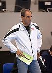 23rd IHF Men's World Championship; BRA-TUN.Coach (TUN) Alain Portes.