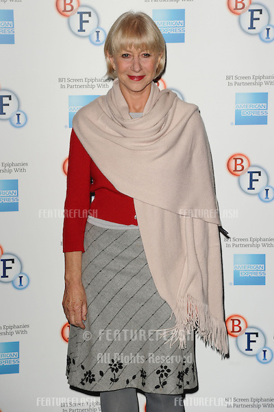 "Dame Helen Mirren introduces ""L'Atlante"", a film that inspired her to become and actress, at the BFI, South Bank, London. 18/01/2013 Steve Vas / Featureflash"