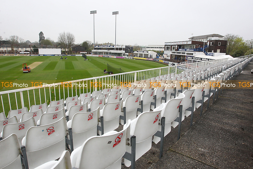 General view of play ahead of Day Two - Essex CCC vs Kent CCC - Pre-Season Friendly Cricket Match at the Essex County Ground, Chelmsford - 04/04/14 - MANDATORY CREDIT: Gavin Ellis/TGSPHOTO - Self billing applies where appropriate - 0845 094 6026 - contact@tgsphoto.co.uk - NO UNPAID USE